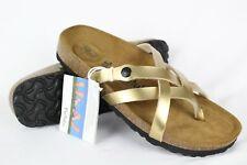 523d5734921987 New Betula Birkenstock Women s Vinja Soft Footbed Size 40 9 Narrow Gold  Metallic