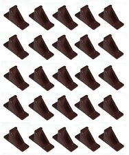 Brown Plastic Mini Roof Snow Ice Guard-25 PK | Prevent Sliding Snow Stop Buildup