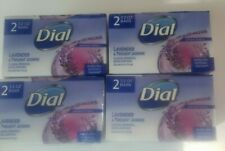 Dial Antibacterial Deodorant Soap Lot of 4 x2 Lavender & Twilight Jasmine 3.2oz