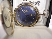 Face W/ Date New Lower Price Colibri Twotone Quartz Pocket Watch Blue