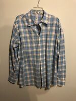 Mens - PETER MILLAR - Button Down Shirt Blue/white Plaid  XL