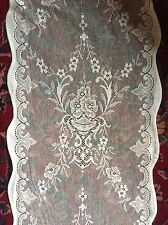 "Victorian Design 160""  4m long sidelight panel Scottish cotton lace Lucinda Crm"