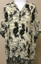226 Pineapple Connection Mens S/S Button Down Shirt  4XB Dragons Asian