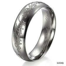 Edelstahl Ring Damen Herren Bandring Trauring Verlobungsring Silber Schwarz