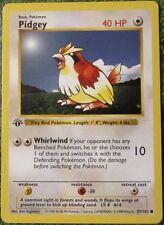 Pidgey 57/102 1st Ed First Edition Base Set Pokemon Card