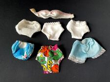 More details for 6 pairs vintage knickers white floral sindy baby blue shorts + bra fit 12