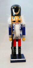 "Soldier Nutcracker Silver Blue Wood Decor Christmas 10"" Kurt Adler Gift"