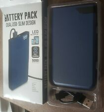 New (Other). Battery Pack. Dual Usb. Slim Design. Led Display. Two Full Charges.