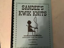 Sandee's kwik knits book 1 knitting machine