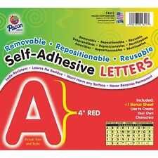 "Pacon Self-Adhesive Letters 4"" 78 Characters Red 51621"