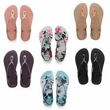 346e2cd9d Havaianas Luna Floral Print Flip Flops Beach Pool Sling Back Strap Women  Sandals