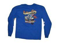 Motorcycle Rally USA Ruidoso Rally 2010 long sleeve t shirt Size Medium  Blue