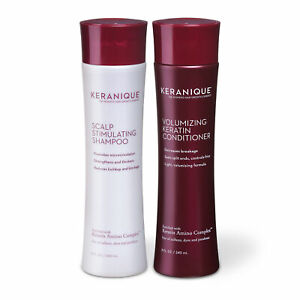 Keranique Keratin Hair Growth Shampoo and Conditioner Set, Volumizing, 8 OZ