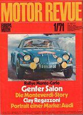 Motor Revue January 1971 Audi, Monte- Carlo German Auto Magazine 051617nonDBE