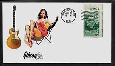1953 Gibson Les Paul & Pin Up Girl Featured on Collector's Envelope *A195