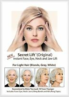 Instant Face, Neck and Eye Lift (Light Hair) Facelift Tapes & Bands Secret Lift