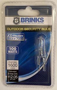 Brinks Outdoor Security Bulb - JCD Halogen - #7055 - 100W - 1600 Lumens