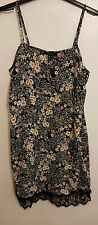 NEW, ATMOSPHERE - Ladies Womens Girls Stunning Black Floral Strap Top Size 14