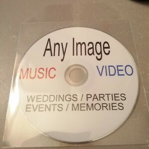 PERSONALISED DVD / CD  ANY PHOTO/PICTURE ON BLANK DISC WITH PLASTIC SLEEVE