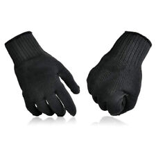 Pair Stainless Steel Mesh Working Gloves Wire Chainmail Cut Resistant Black