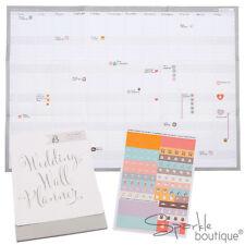 Calendario de pared Planificador-sin fecha de boda-se adapta a planificador de bodas-regalo de compromiso