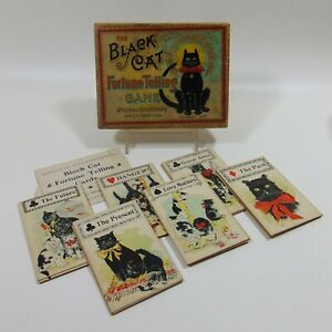 Authentic Complete Black Cat Fortune Telling Game Parker Brothers 1897 Halloween