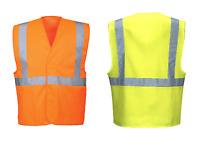 Portwest C472 Hi-Vis One Tape & Brace Safety Vest - Orange or Yellow