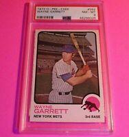 1973 O-Pee-Chee #562 WAYNE GARRETT Mets, Graded PSA 8 NmMt NM-MT  (pop 7)