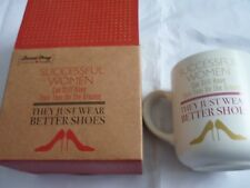 Mug successful women feet on ground they just wear better shoes heels boxed cup