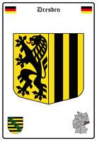 Dresden Alemania Escudo Letrero de Metal Arqueado Metal Tin Sign 20 X 30CM