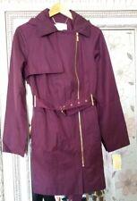 BN MICHAEL KORS Designer Ladies Authentic Merlot Smart Work Trench Coat Mac UK M