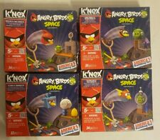ANGRY BIRDS SPACE K'NEX SET of 4 COSMIC BUBBLES, LIGHTNING & ICE BIRD, SUPER RED