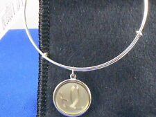 Alex And Ani PRECIOUS METALS Sterling Silver INITIAL I CHARM Adjustable Bracelet