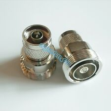Adapter 7/16 DIN female L29  jack to N plug male RF connector straight M/F
