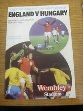 24/05/1978 England v Hungary [At Wembley] (Folded). Any faults are noted in brac