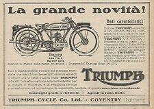 Z0678 Moto Triumph 4,94 HP - Pubblicità del 1925 - Advertising