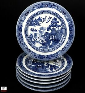 Johnson Brothers Willow Blue - Bread Butter Side Plates x 6