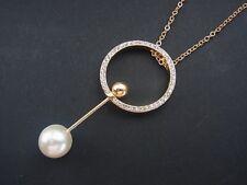 Kette Halskette Lange Kette mit Anhänger Design Perle Strass