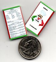 Dollhouse 1:12 scale 2  Miniature  1950/'s  WOOLWORTH/'S LUNCH COUNTER  MENUS