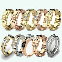 Punk Men's Women's Gold Silver Simulated Copper Finger Rings Wedding Jewelry