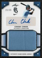 2015 Leaf Perfect Game Chase Cheek Duke Blue Devils Game Worn Patch Auto 25/35
