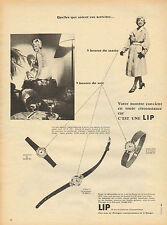 Publicité Advertising 1950 --montre   lip horlogerie Print AD