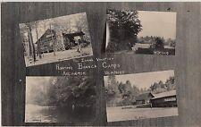 Vermont Vt RPPC Postcard c1910 ARLINGTON Roaring Branch Camps 4View Tennis Cabin