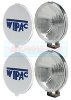 "CLASSIC MINI CHROME WIPAC 5 1/2"" FOG LIGHTS FOG LAMPS BOXED PAIR WITH COVERS"