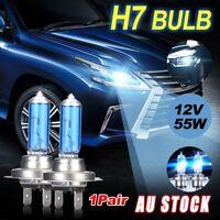 1Pair 12V H7 55W Xenon White 6000k Halogen Car Front Head Light Lamp Globe Bulb