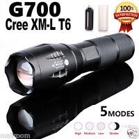 Tactical LED G700 SkyWolfeye 5000LM T6 X800 Zoom Taschenlampen+Akku+Ladegerät