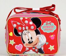 """Disney* Minnie Mouse-Hearts&stars- Insulated Lunch Box 10"""" girls/toddler-1322"""