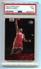 2003 Upper Deck Lebron James Star Rookie #301 PSA 7 NM BK555 🏀