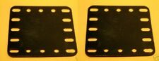 Two Meccano  black plastic Plates, Part No 194a