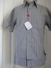 English Laundry Woven Plaid Short Sleeve Shirts #16 L